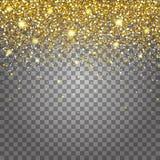 Skutek latać części złocistej błyskotliwości projekta luksusowego bogatego tło Światło - szary tło dla skutka Stardust iskra wybu Zdjęcie Royalty Free