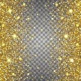 Skutek latać części złocistej błyskotliwości projekta luksusowego bogatego tło Światło - szary tło Stardust iskra wybuch Obrazy Royalty Free