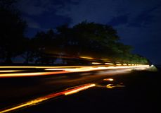 Skutek opóźnienie Droga która jechał samochód fotografia stock