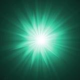 skutek zaświeca promienie Obrazy Stock