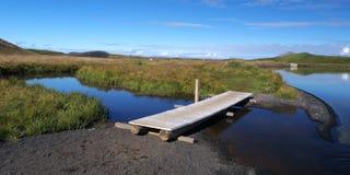 Skutustadagigar, północny Iceland zdjęcia stock