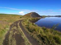 Skutustadagigar, północny Iceland obraz royalty free