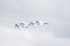 Skvadron för U.S.A.F.-luftdemonstration Royaltyfri Foto