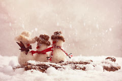 skvallra snowmen Royaltyfria Bilder