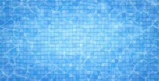 Skvalpar flödar nedersta caustics för simbassäng och med vågbakgrund Blåtthav, Sky & moln som bakgrund är kan surface textur anvä Royaltyfria Foton