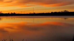 Sky湖 免版税图库摄影
