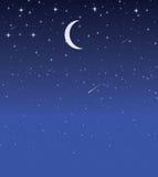 Sky. Deep dark night scene with starry sky Stock Images