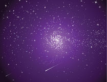 Sky. Deep dark night scene with starry sky Stock Photography