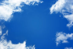 Sky. White clouds on blue sky Royalty Free Stock Images
