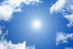 Sky. White clouds on blue sky Stock Photo