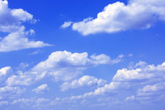 Sky. Sunny sky background and clouds Royalty Free Stock Image