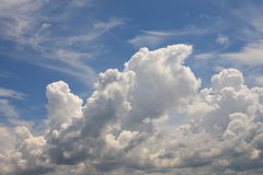 Sky. Beautiful bright sky with clouds Royalty Free Stock Photo