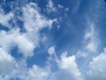 Sky. Blue sky and clouds Stock Photo