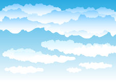 Sky. Beautiful simple clouds on the blue sky Royalty Free Stock Photos