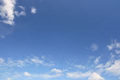 Sky. The blue sky and white clouds Stock Image