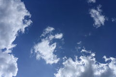 Sky. White Clouds in the deep, blue sky Royalty Free Stock Images