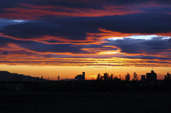 Sky. The evening's sky. Play of colors Royalty Free Stock Photo