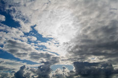 Sky. The sky with thunderclouds, may be used as background Stock Photo