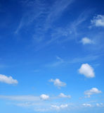 Sky. Heavenly blue sky with white clouds Royalty Free Stock Photography