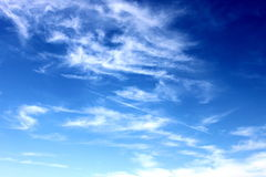 Sky. Photo of blue sky with white clouds