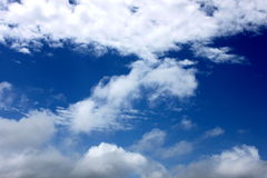 Sky. Photo of blue sky with white clouds Royalty Free Stock Photography