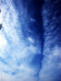 Sky. This is an atmospheric cloudscape with a pylon stock images