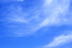 Sky. The blue sky and soft white clouds Royalty Free Stock Image