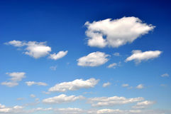Sky. White fluffy clouds in the blue sky Royalty Free Stock Image