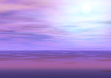 Sky. Colorful sky, computer generated illustration Royalty Free Stock Photos