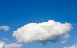 Sky. White cloud on blue sky Royalty Free Stock Image
