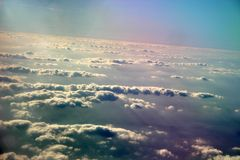 Sky. And clouds - picture taken from the lapne Stock Photo