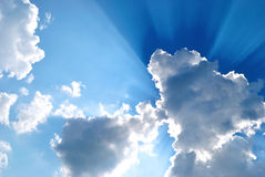 Sky. The Big cloud has closed the bright sun on turn blue the sky Royalty Free Stock Image