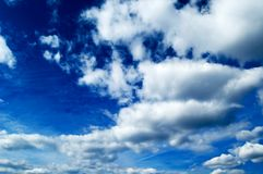 The sky. The white clouds on blue sky Stock Photography