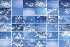 Sky. The beautiful dark blue sky with clouds royalty free stock image