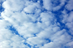 Sky. Background abstract: blue sky end clouds Stock Photography