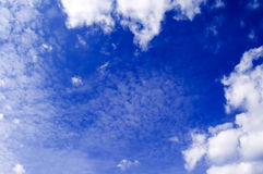 The sky. The white clouds on blue sky Royalty Free Stock Photography