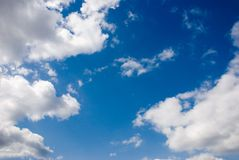 Sky. Some of the blue sky with clouds Royalty Free Stock Images