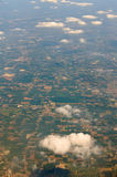 From the sky. Aerial view of the french country Royalty Free Stock Photography