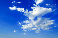 The sky. The blue sky and white clouds Stock Image