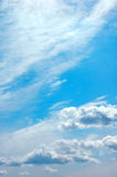 Sky. Background abstract: blue sky and clouds Royalty Free Stock Photos