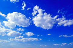 The sky. The blue sky and clouds Royalty Free Stock Images