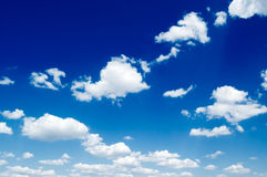 The sky. The clouds on the sky Stock Images