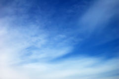 Sky. Background abstract: blue sky end clouds Royalty Free Stock Photos