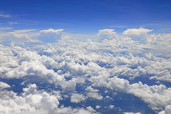 In the Sky. White clouds in the blue sky Royalty Free Stock Image
