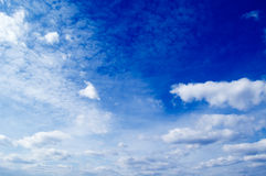 The sky. The  clouds on background blue sky Stock Image