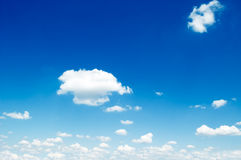 The sky. The beautiful white clouds on background blue sky Stock Photo
