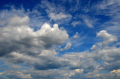 Sky. Blue sky with white clouds Royalty Free Stock Image