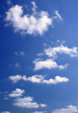 Sky. Blue sky with white clouds, may be used as background Stock Image
