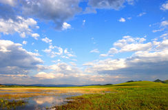 Sky. The lake with blue sky Royalty Free Stock Photo