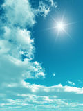 Sky. Blue sky with white clouds - digital artwork stock images